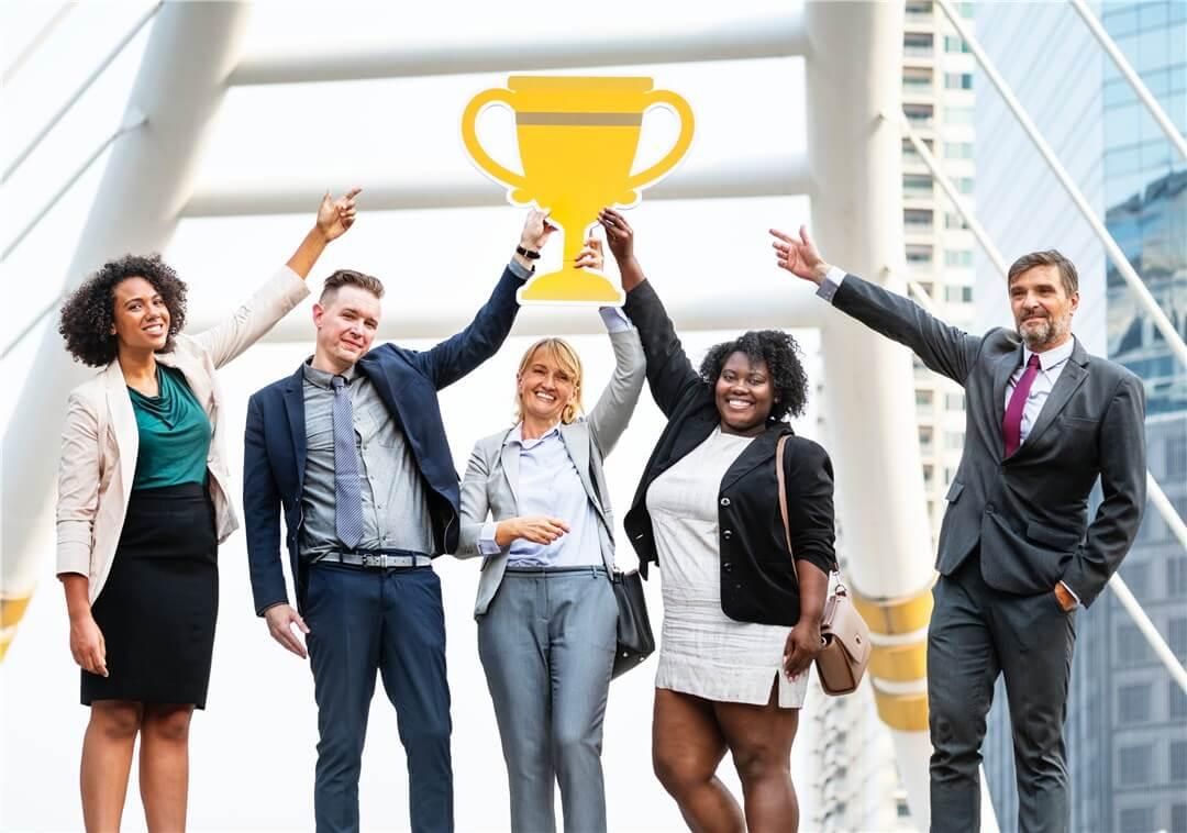 Image création proposition commerciale équipe gagnante